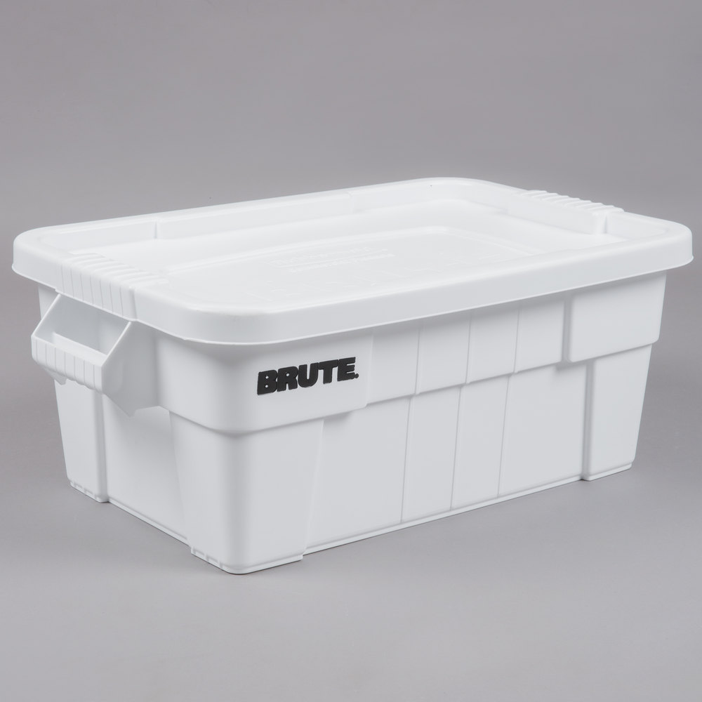 Caja BRUTE  con asas, color blanco
