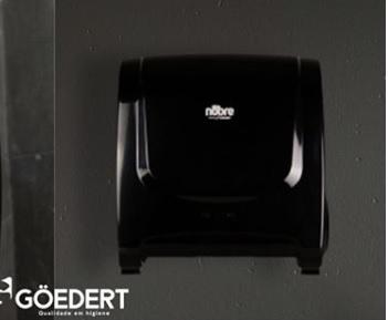 Dispensador plástico para toalla bobina autocortante  LINEA BLACK