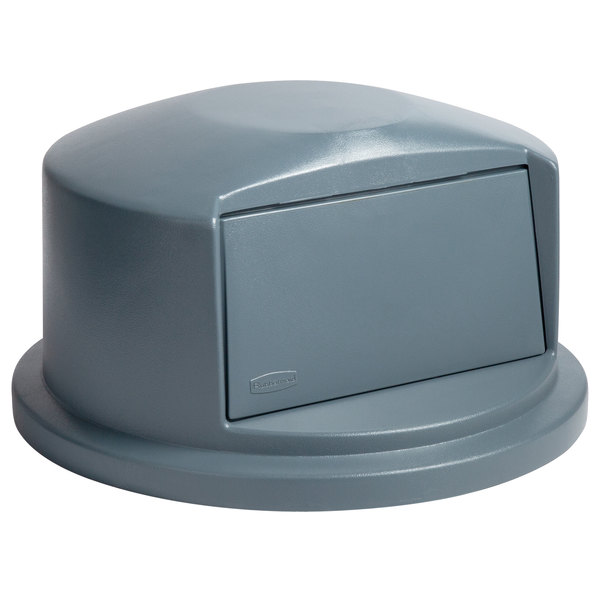 Tapa domo para contenedores BRUTE de 121 lts. Gris
