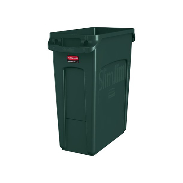 Basurero Slim Jim de 60Lts Verde