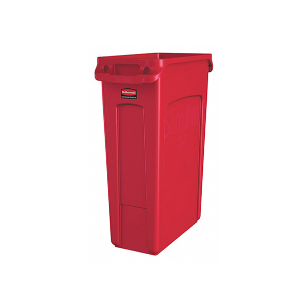 Basurero Slim Jim 87 litros - Rojo