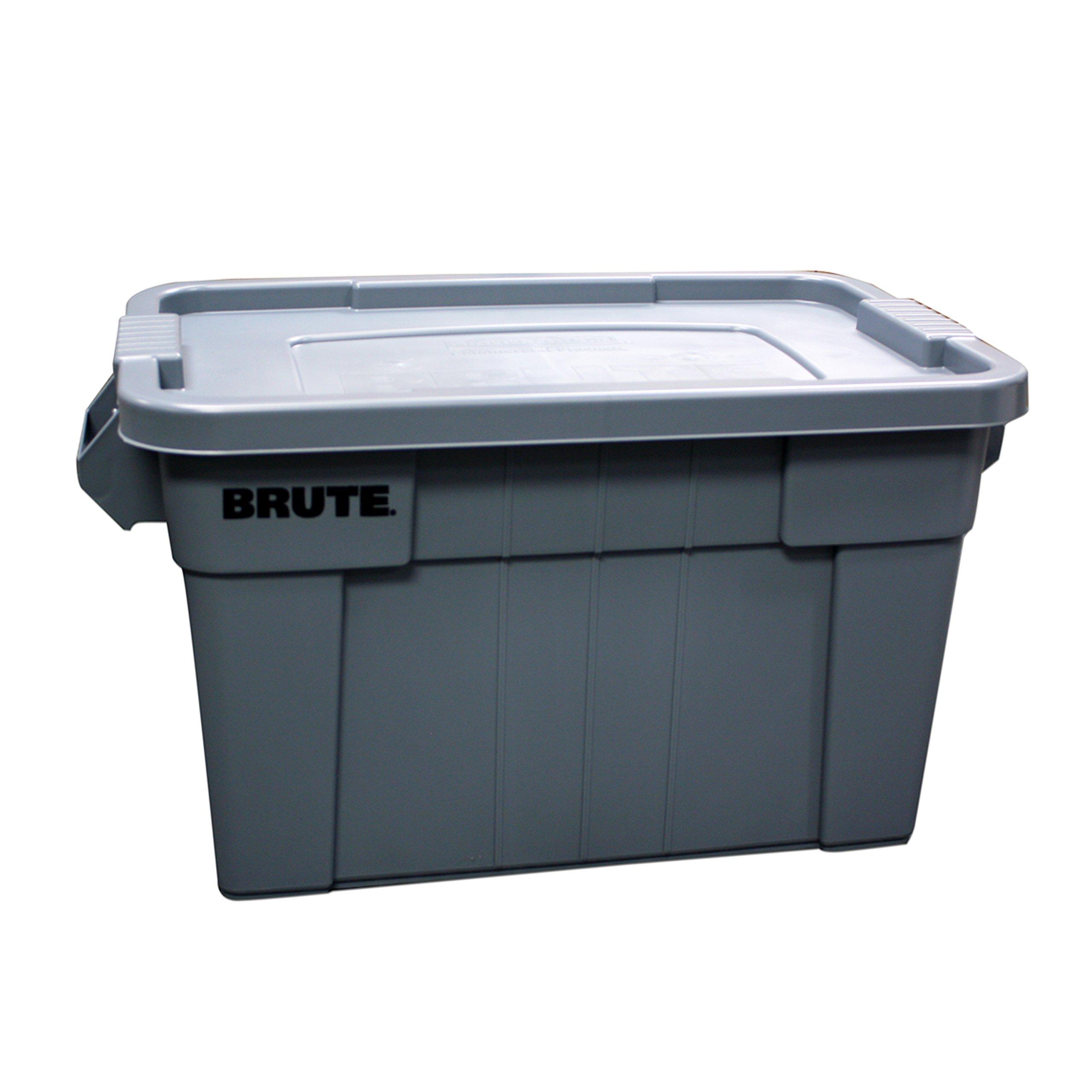 Caja BRUTE  de 75 litros, color Gris