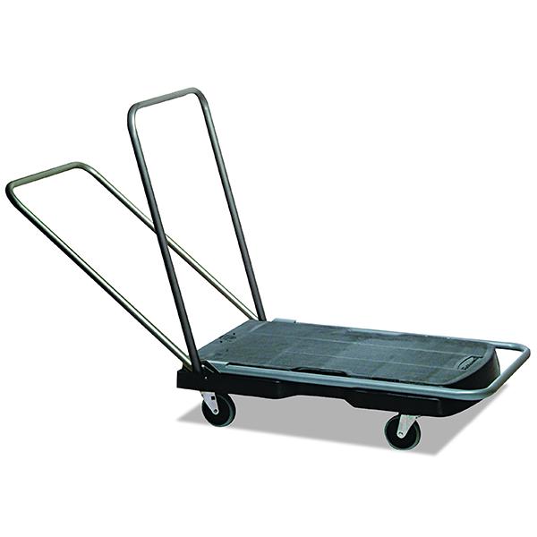 Plataforma triple Trolley con mango plegable
