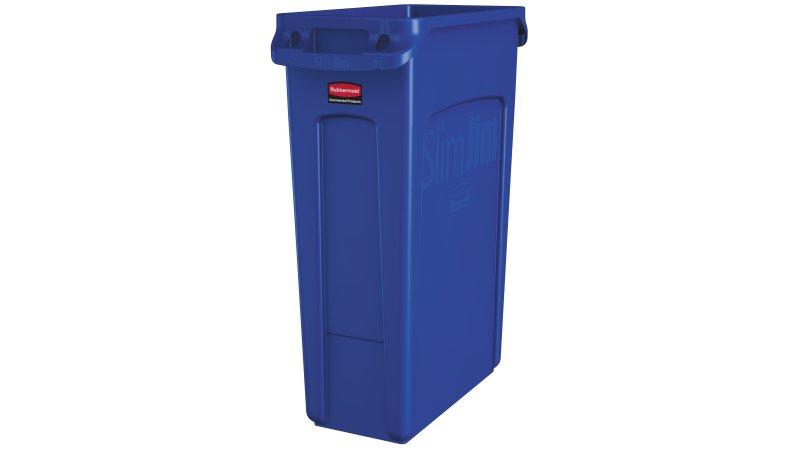 Basurero Slim Jim 87 litros - Azul
