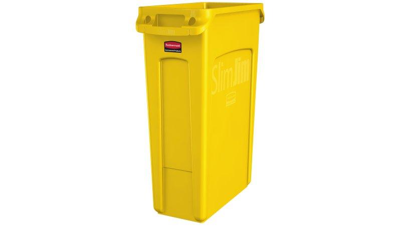 Basurero Slim Jim 87 Litros - Amarillo