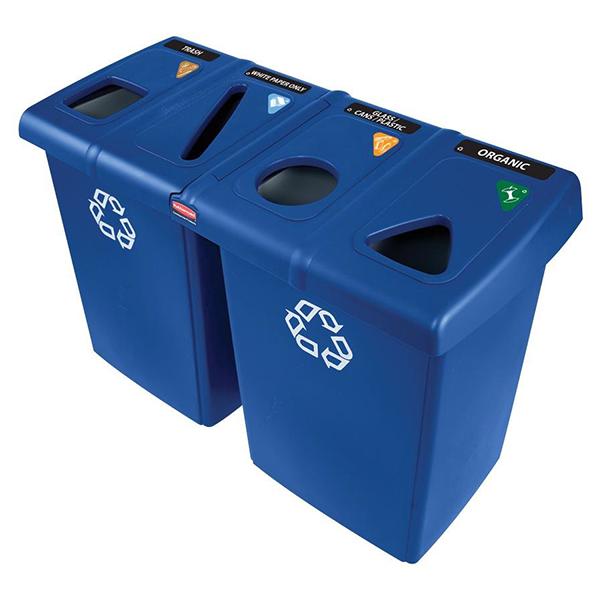 Estación de reciclaje GLUTTON de 348 lts, con divisorias. ÚLTIMAS UNIDADES