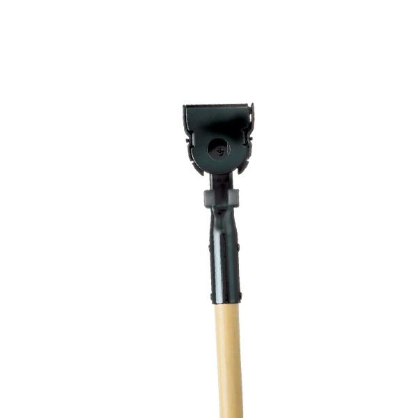 Mango de madera c/pinza para mopa polvo- 152 cm