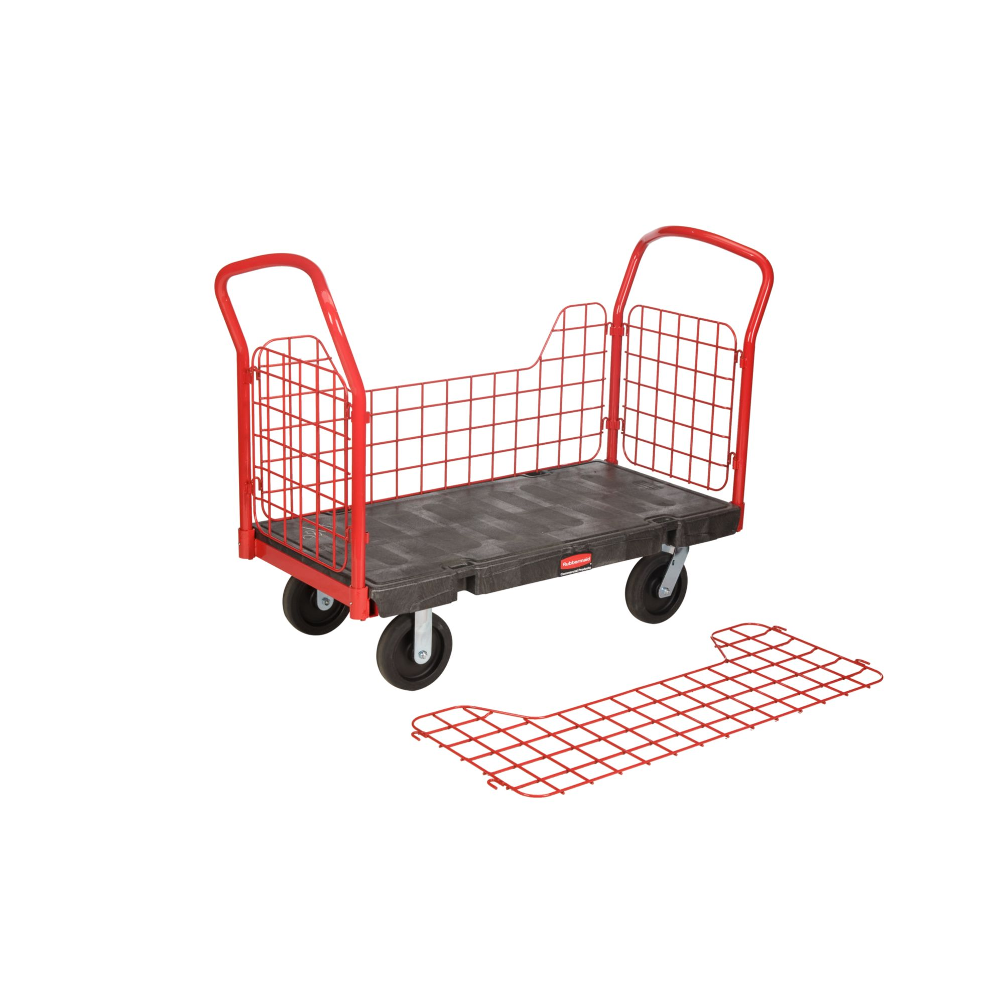 Plataforma con ruedas para cargas pesadas con paneles laterales