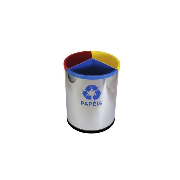 Basurero Mix (inox/plástico)