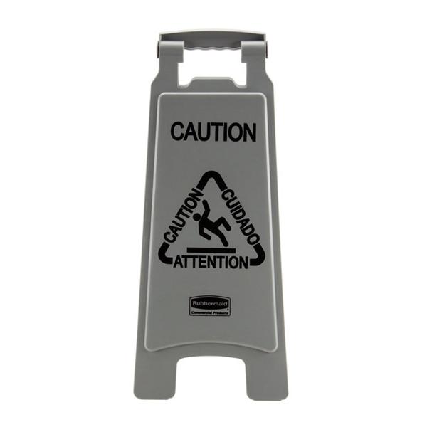 Señal de precaución múltiple, color gris