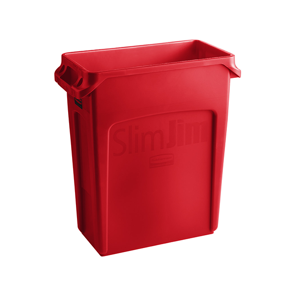 Basurero Slim Jim de 60Lts Rojo