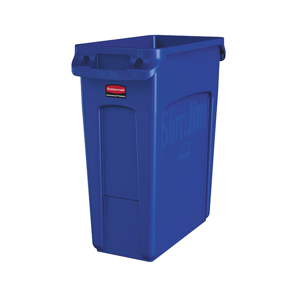 Basurero Slim Jim de 60Lts Azul