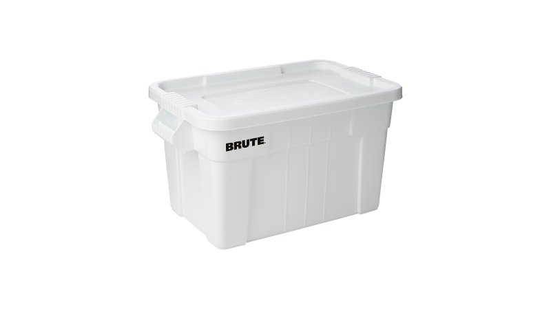 Caja BRUTE c/tapa, color Blanco