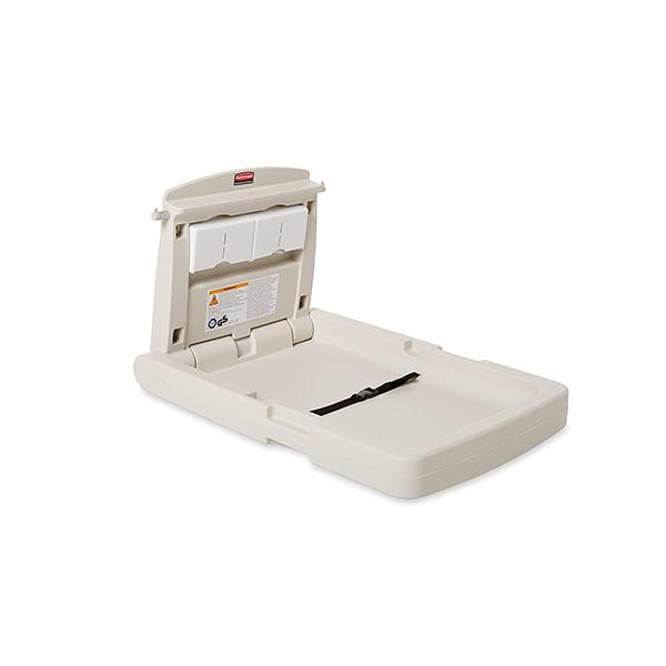 Cambiador de pañales vertical con protección antimicrobiana.