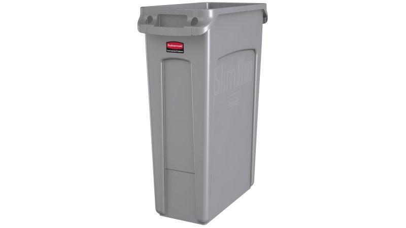 Basurero Slim Jim 87 litros - Gris
