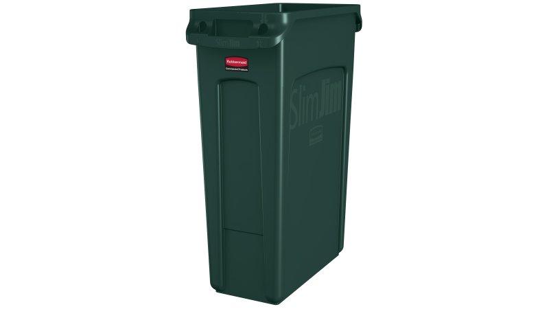 Basurero Slim Jim 87 litros - Verde