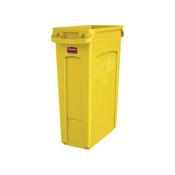 Basurero Slim Jim de 60Lts  Amarillo