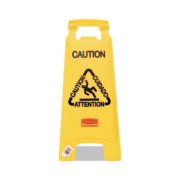 Señal de precaución múltiple, color amarillo